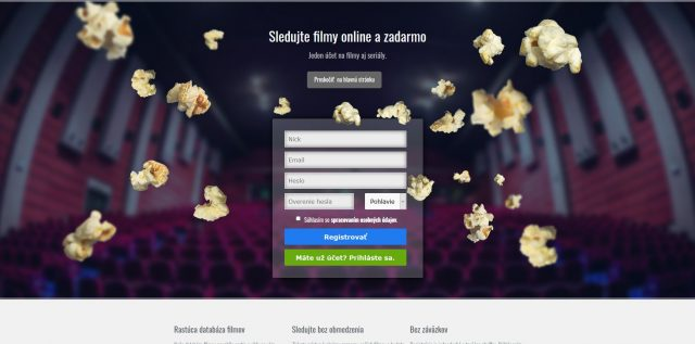 Registrační formulář na Bombuj.tv